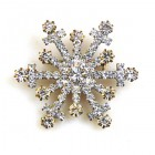 Snowflake Pin ~ Clear Crystal #8