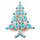 Brooch Tree 10 cm ~ Clear Aqua