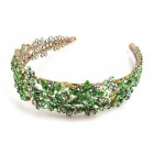 Forget-Me-Not Headband Tiara ~ Green
