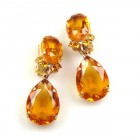 Effervescence Earrings with Clips ~ Topaz
