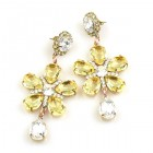 Flowers Earrings Pierced ~ Yellow Jonquil