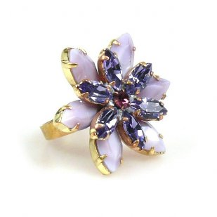 Sensual Desire Ring ~ Opaque Amethyst with Violet