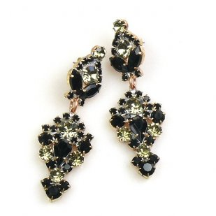 Andromeda Earrings Pierced ~ Black Diamond