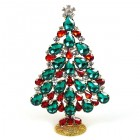 2020 Xmas Tree Stand-up Decoration 15cm ~ Emerald Red