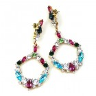 Paradise Valley Earrings Pierced ~ Multicolor