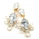 Xara Earrings Clips ~ Clear Crystal