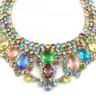 Lilien Necklace with Earrings ~ Multicolor