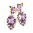 Allisa Earrings Pierced ~ Violet