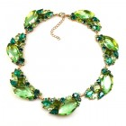Brilliant Dew Necklace ~ Peridot and Green Tones