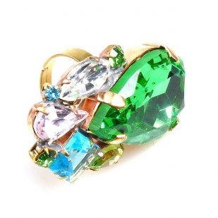 Fountain Ring ~ Pastel Tones Green