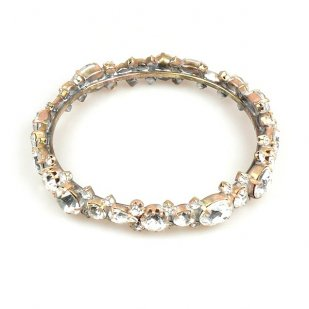 Tropicana Bangle Bracelet ~ Clear Crystal