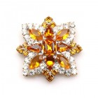 Star Rhinestone Button ~ Crystal Topaz