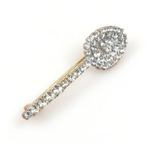 Spoon Rhinestone Pin