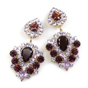 Lioness Clips-on Earrings ~ Purple Violet