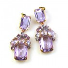 Emilee Earrings Pierced ~ Violet