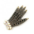 Magic Hand Brooch ~ Black