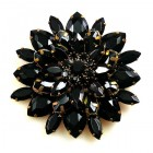 Grand Blossom Brooch ~ Large ~ Black