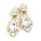 Grand Mythique Clips-on Earrings ~ Clear Crystal