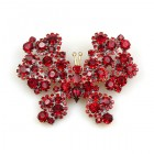 Ruby Butterfly Brooch