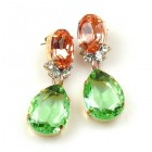 Effervescence Earrings for Pierced Ears ~ Green Pink
