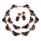 Timeless Chunky Bib Set ~ Black and Red