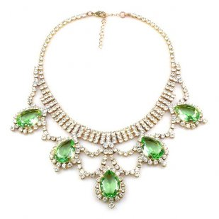 Mystery Necklace ~ Crystal Green