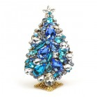 3 Dimensional Large Xmas Tree Decoration ~ Blue Clear