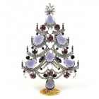 Xmas Tree Standing Decoration 2019 #02 ~ Purple Violet Clear