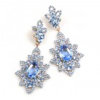 Emotion Lace Earrings Pierced ~ Light Sapphire