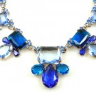 Jelly Belly Necklace Set ~ Blue Sapphire