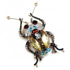 Longhorn Beetle Pin Extra Big ~ Black Yellow