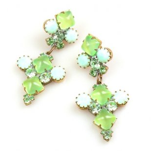 Bubbles Earrings for Pierced Ears ~ Neon Green