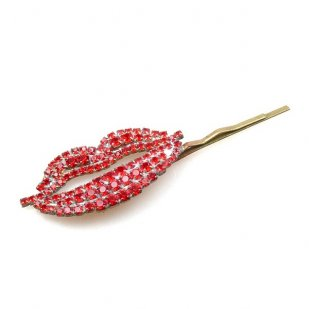 Lips Rhinestone Hairpin