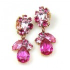Fascinate Earrings Pierced ~ Fuchsia