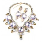Taj Mahal Necklace Set with Earrings ~ Violet Sapphire