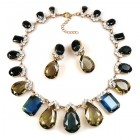 Effervescence Necklace Set ~ Smoke Crystal with Montana