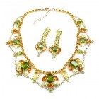 Roxanne Lite Set with Earrings ~ Olive with Topaz