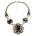 Inca Necklace ~ Smoke Crystal Black Clear