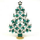 2020 Xmas Tree Decoration 22cm ~ Emerald Clear