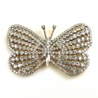 Glamorous Butterfly ~ Clear Crystal Extra Large