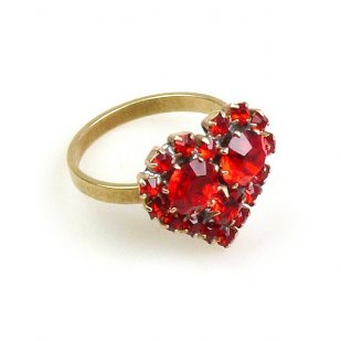 Ruby Red Heart St. Valentine Ring