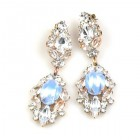Crystal Gate Pierced Earrings ~ Opaque Azure
