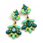 Sweetness Earrings Clips ~ Green Tones