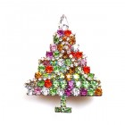 Xmas Tree Brooch Multicolor ~ 1