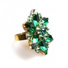 Sensual Aspiration Ring ~ Emerald Green with Peridot