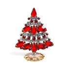 Xmas Tree Standing Decoration 2020 #18 ~ Red Clear