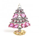 Xmas Tree Standing Decoration 2020 #18 ~ Pink Clear