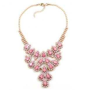 Hersheys Necklace ~ Opaque Pink