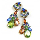 Parisienne Bloom Earrings Clips ~ Jungle Flower