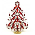 2020 Xmas Tree Decoration 18cm Navettes ~ Red Clear